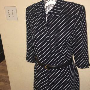 Talbots's shirt dress stripe type very classy SZ8.